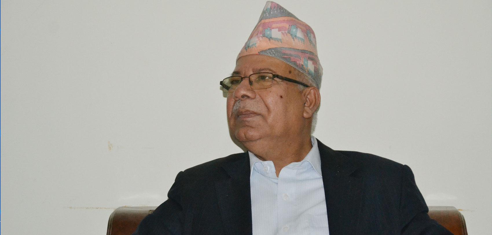 म नै सर्वेसर्वा हुँ भन्ने प्रवृत्तिविरुद्ध दृढतापूर्वक उभियौं : माधव नेपाल